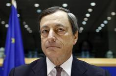Il presidente della Bce Mario Draghi. REUTERS/Francois Lenoir
