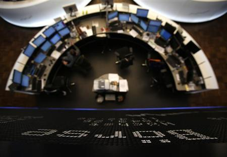 The German share price index DAX board is pictured at the German stock exchange in Frankfurt January 25, 2013. REUTERS/Lisi Niesner/Files