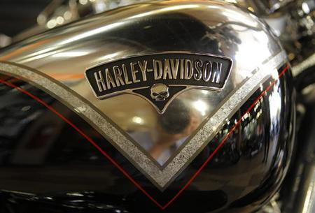 A Harley-Davidson softail Breakout fuel tank and logo are seen at Harley-Davidson of Frederick in Frederick Maryland, October 23, 2012. REUTERS/Gary Cameron