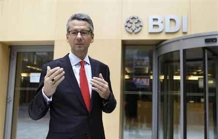 Ulrich Grillo, new president of the BDI German industry association poses at the association headquarter in Berlin, January 29, 2013. REUTERS/Fabrizio Bensch (GERMANY - Tags: BUSINESS INDUSTRIAL)