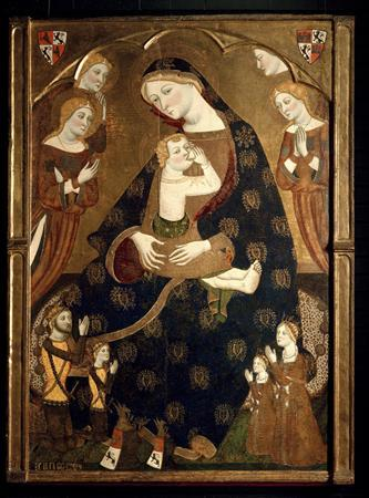 The artwork ''Virgen de Tobed'' by Jaume Serra, dated in 1359, is seen in this undated picture provided by the Prado Museum in Madrid January 29, 2013. REUTERS/Museo del Prado/Handout