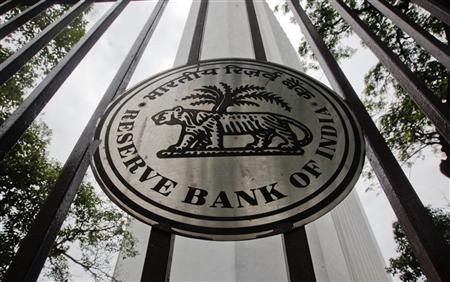 The Reserve Bank of India (RBI) logo is pictured outside its head office in Mumbai July 26, 2011. REUTERS/Danish Siddiqui