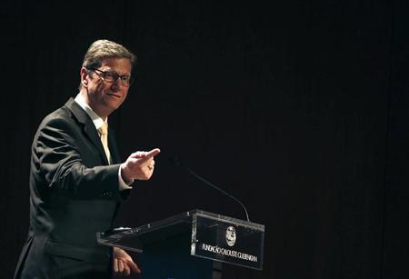 German Foreign Minister Guido Westerwelle gives a speech during the first Portugal-Germany Forum at the Calouste Gulbenkian Foundation in Lisbon January 24, 2013. REUTERS/Rafael Marchante (PORTUGAL - Tags: POLITICS)