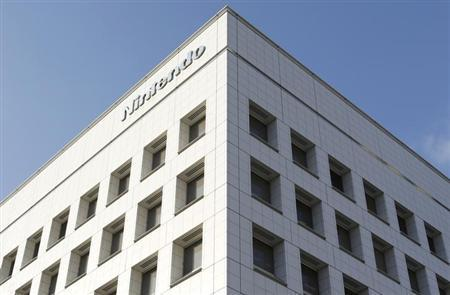 A logo of Nintendo Co is pictured outside the company headquarters building in Kyoto, western Japan January 7, 2013. REUTERS/Yuriko Nakao