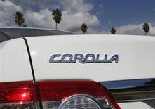 Correction: lire 1,3 million et non 1,1 million. Pour régler des défauts techniques, Toyota va rappeler 1,1 million de voitures, dont 752.000 Corolla et Corolla Matrix aux Etats-Unis. /Photo prise le 10 octobre 2012/REUTERS/Lucy Nicholson