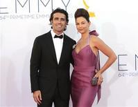 Ashley Judd e piloto escocês Dario Franchitti chegam aos prêmios Emmy em Los Angeles, em setembro de 2012. Ashley e Franchitti terminaram o seu casamento depois de 11 anos. 23/09/2012 REUTERS/Mario Anzuoni