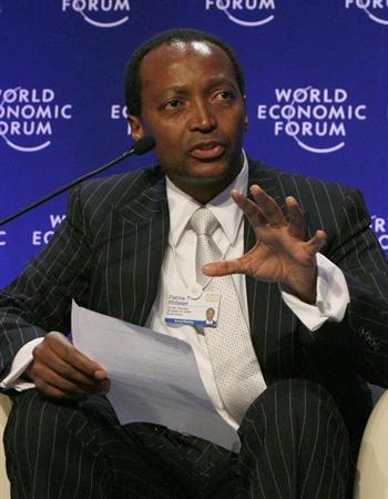 Patrice Motsepe attends a session at the World Economic Forum (WEF) in Davos January 30, 2009. REUTERS/Christian Hartmann