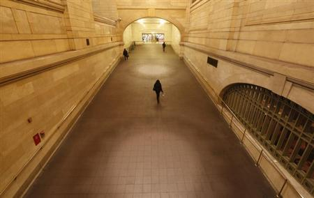 People use the ramp at Grand Central Terminal in New York, January 25, 2013. REUTERS/Brendan McDermid