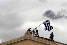 Manifestanti in Grecia in una immagine di archivio. REUTERS/Yannis Behrakis