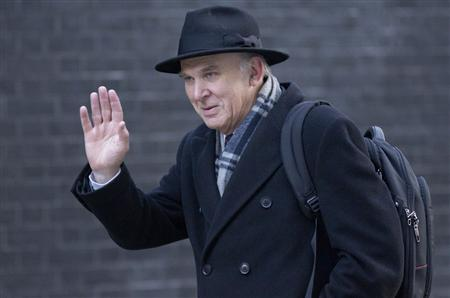 Business Minister Vince Cable arrives for a cabinet meeting at Downing Street in London, December 11, 2012. REUTERS/Neil Hall