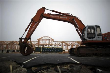 A new site for cabanas is re-constructed after they were destroyed by storm Sandy in the town of Sea Bright at the Jersey Shore in New Jersey, January 29, 2013. REUTERS/Eduardo Munoz
