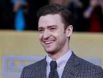 O cantor Justin Timberlake vai se apresentar no mês que vem no prêmio Grammy pela primeira vez em quatro anos. Na foto, ele aparece em cerimônia do sindicato dos atores no dia 27 de janeiro. REUTERS/Adrees Latif