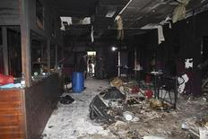 Boate Kiss é inspecionada após incêndio que deixou 235 pessoas mortas em Santa Maria (RS). A foto foi divulgada pela Polícia Civil na terça-feira. REUTERS/Divulgação
