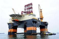 Una piattaforma petrolifera in una immagine di archivio REUTERS/Keppel Offshore & Marine/Handout