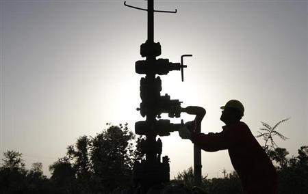 A technician opens a pressure gas valve Ahmedabad March 2, 2012. REUTERS/Amit Dave/Files