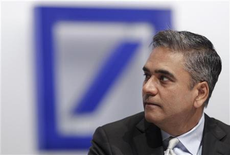 Deutsche Bank co-head of investment banking Anshu Jain attends the annual shareholders meeting in Frankfurt May 26, 2011. REUTERS/Alex Domanski/Files