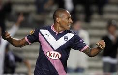 Le milieu offensif des Girondins de Bordeaux Jussiê a été prêté jusqu'à la fin de la saison au club émirati d'Al Wasl. /Photo prise le 20 septembre 2012/REUTERS/Régis Duvignau