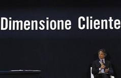 L'ex numero uno di Mps e Abi Giuseppe Mussari durante una conferenza stampa in una foto d'archivio. REUTERS/Alessandro Bianchi