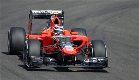 Marussia Formula One test driver Max Chilton of Britain drives during the first practice session of the Abu Dhabi F1 Grand Prix at the Yas Marina circuit on Yas Island November 2, 2012. REUTERS/Steve Crisp