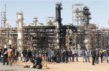 A general view of damage caused by a siege by Islamist militants earlier this month at the Tiguentourine Gas Plant in In Amenas, 1600 km (994 miles) southeast of Algiers, January 31, 2013. REUTERS/Louafi Larbi