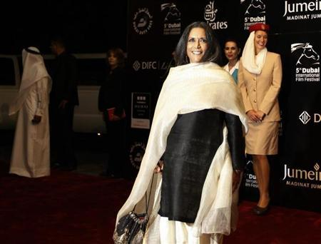 Canadian director Deepa Mehta arrives for the opening ceremony of the 5th edition of the Dubai International Film Festival December 11, 2008. REUTERS/Jumana El Heloueh/Files