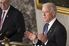 U.S. Vice President Joe Biden delivered remarks during the Inaugural luncheon in Statuary Hall after his ceremonial swearing in at the U.S. Capitol on Capitol Hill in Washington, January 21, 2013. REUTERS/Benjamin Myers (UNITED STATES - Tags: POLITICS)