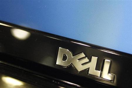 A Dell computer logo is seen on a laptop at Best Buy in Phoenix, Arizona, February 18, 2010. Dell Inc is expected to releases its fourth quarter earnings report on on Thursday. REUTERS/Joshua Lott (UNITED STATES - Tags: BUSINESS SCI TECH)