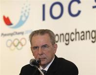 International Olympic Committee (IOC) President Jacques Rogge answers a reporter's question at a news conference in Seoul February 1, 2013 after he visited venues for the Pyeongchang 2018 Winter Olympic Games. REUTERS/Kim Hong-Ji
