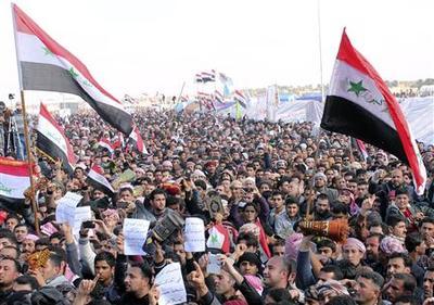 Thousands of Iraqi Sunni protesters say no to Maliki