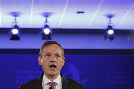 Barclays PLC Chief Executive Antony Jenkins speaks during the first day of the Clinton Global Initiative 2012 (CGI) in New York, September 23, 2012. REUTERS/Lucas Jackson/Files