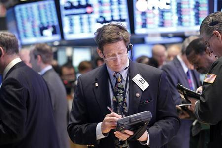 Wall St surges to 5-year highs; Dow ends above 14,000