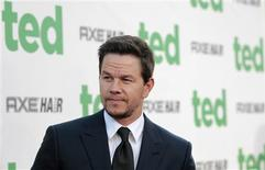 "Cast member Mark Wahlberg poses at the premiere of ""Ted"" at the Grauman's Chinese theatre in Hollywood, California June 21, 2012. The movie opens in the U.S. on June 29. REUTERS/Mario Anzuoni"