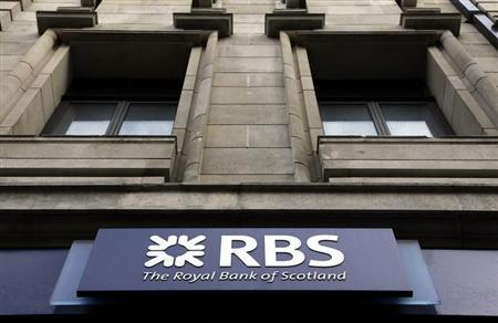 A logo of an Royal Bank of Scotland (RBS) is seen at a branch in London February 23, 2012. REUTERS/Stefan Wermuth/Files
