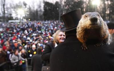 Expect an early spring, if Pennsylvania's groundhog is...