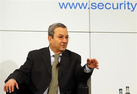 Israeli Defence Minister Ehud Barak gestures during the 49th Conference on Security Policy in Munich February 3, 2013. REUTERS/Michael Dalder