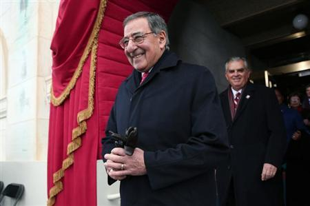 U.S. Defense Secretary Leon Panetta arrives at the second presidential inauguration of President Barack Obama on the West Front of the U.S. Capitol January 21, 2013 in Washington. REUTERS/Win McNamee-POOL