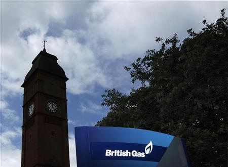 A sign stands outside a British Gas facility in Leicester, central England July 28, 2010. REUTERS/Darren Staples