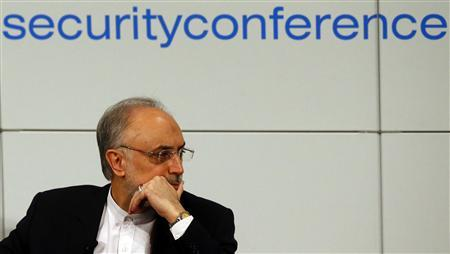 Iranian Foreign Minister Ali Akbar Salehi arrives at the 49th Conference on Security Policy in Munich February 3, 2013. REUTERS/Michael Dalder (GERMANY - Tags: MILITARY POLITICS)