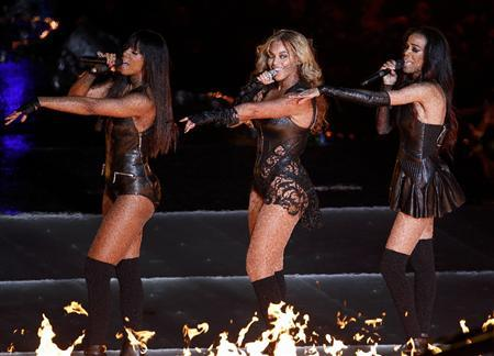 Beyonce (C) and Destiny's Child perform during the half-time show of the NFL Super Bowl XLVII football game in New Orleans, Louisiana, February 3, 2013. REUTERS/Jonathan Bachman