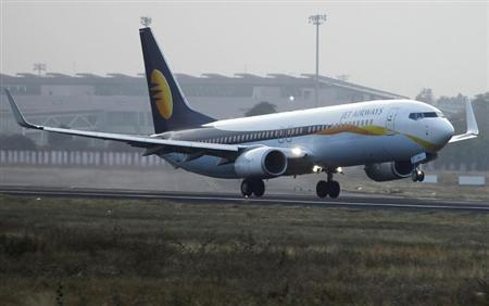A Jet Airways passenger plane takes off from Sardar Vallabhbhai Patel International Airport in Ahmedabad February 1, 2013. REUTERS/Amit Dave