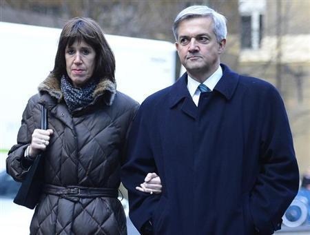 Britain's former energy secretary Chris Huhne and his partner Carina Trimingham arrive at Southwark Crown Court in central London February 4, 2013. REUTERS/Paul Hackett