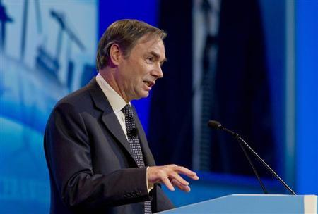 Centrica CEO Sam Laidlaw speaks during the CERAWEEK world petrochemical conference in Houston in this file photo taken March 7, 2012. REUTERS/Donna W. Carson