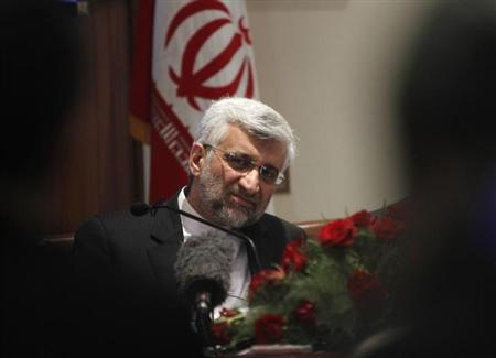 Saeed Jalili listens to a reporters' question during a news conference in New Delhi January 4, 2013. REUTERS/Mansi Thapliyal