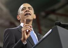 Presidente dos EUA, Barack Obama, faz declaração sobre reforma da imigração em Las Vegas. Obama afirmou que uma maior receita fiscal seria necessária para reduzir o déficit dos EUA, e sinalizou que vai se esforçar para acabar com buracos no sistema, como a isenção de impostos para gestores de capital privado e de fundos de hedge. 29/01/2013 REUTERS/Jason Reed