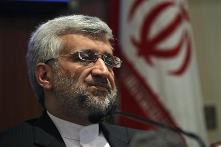 Iran's chief nuclear negotiator Saeed Jalili speaks during a news conference in New Delhi January 4, 2013. REUTERS/Mansi Thapliyal