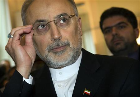 Iran's Foreign Minister Ali Akbar Salehi's takes his seat at the German Council on Foreign Relations, before delivering a speech in Berlin February 4, 2013. REUTERS/Thomas Peter