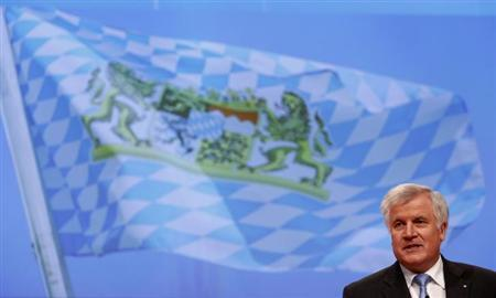 Horst Seehofer, Prime Minister of Bavaria and party leader of the Christian Social Union (CSU) delivers his speech during the second day of Germany's Christian Democratic Union (CDU)'s annual party meeting in Hanover, December 5, 2012.