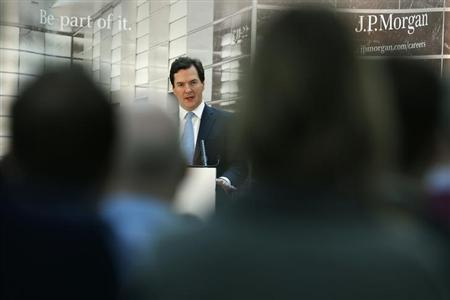 Britain's Chancellor of the Exchequer George Osborne speaks in Bournemouth, southern England February 4, 2013.