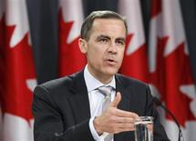 Bank of Canada Governor Mark Carney speaks during a news conference upon the release of the Monetary Policy Report in Ottawa January 19, 2011 REUTERS/Chris Wattie