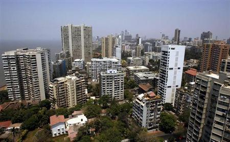 Mumbai's skyline is seen April 9, 2008. REUTERS/Punit Paranjpe/Files